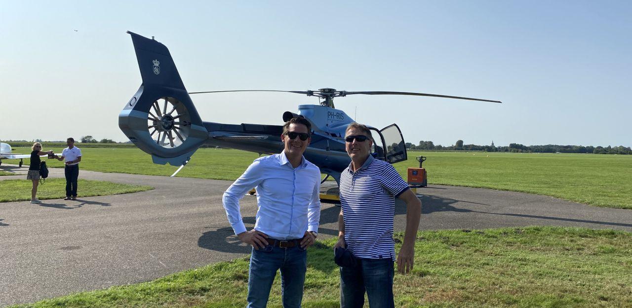 Bijzondere helikoptervlucht